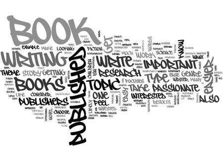 WHAT TYPE OF BOOKS ARE EASIER TO GET PUBLISHED TEXT WORD CLOUD CONCEPT