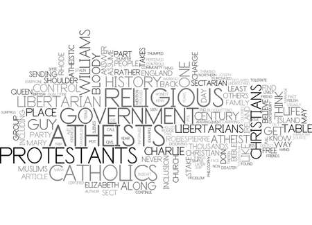 charlie: WHY CHRISTIAN AND ATHEISTIC LIBERTARIANS GET ALONG TEXT WORD CLOUD CONCEPT