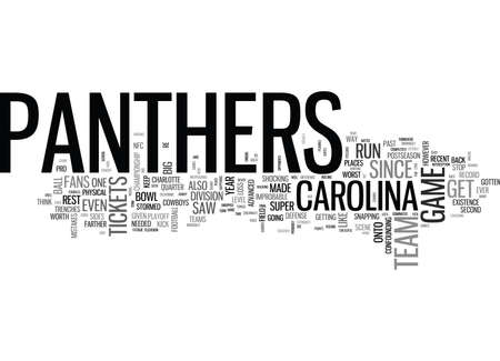 WHAT WILL CAROLINA PANTHERS TICKETS BE WORTH FOR THE REST OF TEXT WORD CLOUD CONCEPT