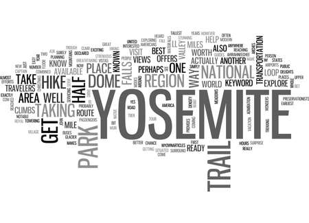 YOSEMITE TEXT WORD CLOUD CONCEPT