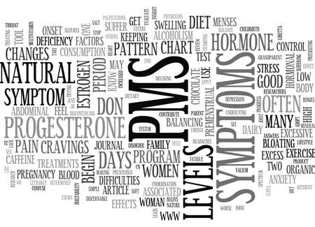 YOU DON T HAVE TO SUFFER WITH PMS TEXT WORD CLOUD CONCEPT Illustration