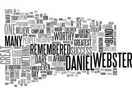 starving: YOU AND DANIEL WEBSTER TEXT WORD CLOUD CONCEPT