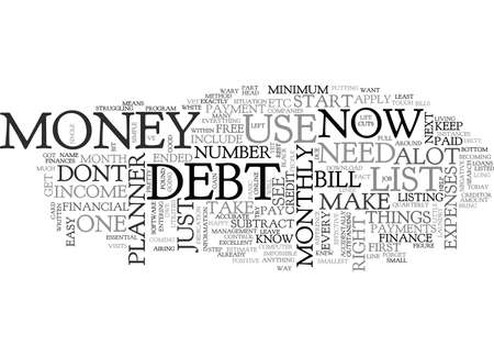 YOU DONT NEED ALOT OF MONEY TO USE A FINANCE PLANNER TEXT WORD CLOUD CONCEPT Ilustração