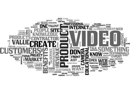 YOU DONT NEED TO BE A PRO TO CREATE POWERFUL VIDEO PRODUCTS TEXT WORD CLOUD CONCEPT