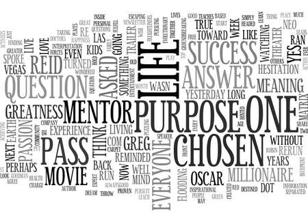 YOU ARE THE CHOSEN ONE TEXT WORD CLOUD CONCEPT