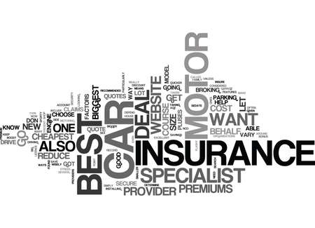 YOU FOUND THE BEST CAR NOW YOU WANT THE BEST MOTOR INSURANCE TEXT WORD CLOUD CONCEPT