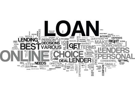 YOU ARE WORTH A BEST DEAL THROUGH ONLINE PERSONAL LOAN TEXT WORD CLOUD CONCEPT