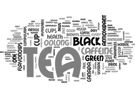 YOU ASKED IS BLACK TEA GOOD FOR MY HEALTH TEXT WORD CLOUD CONCEPT
