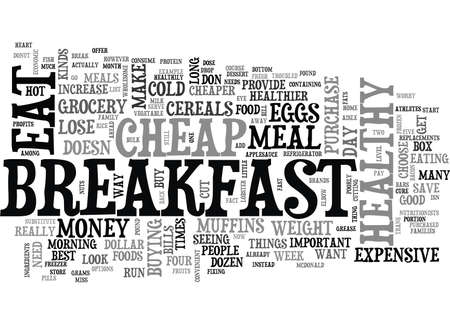 YOU CAN EAT CHEAP BUT EAT HEALTHY TO LOSE WEIGHT TEXT WORD CLOUD CONCEPT Illustration