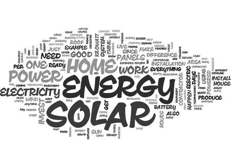 YOU CAN HAVE A HOME POWERED BY SOLAR ENERGY TEXT WORD CLOUD CONCEPT Ilustrace