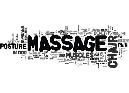 boast: YOU LL NEVER GUESS WHAT A MASSAGE CHAIR RECLINER CAN DO FOR YOU TEXT WORD CLOUD CONCEPT Illustration