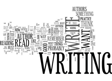 author: YOU COULD BE AN AUTHOR TEXT WORD CLOUD CONCEPT Illustration