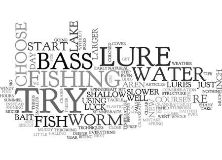 re do: YOU RE ON A NEW LAKEWHAT LURE DO YOU CHOOSE TEXT WORD CLOUD CONCEPT Illustration
