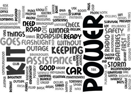 YOU READY WHEN THE POWER GOES OUT TEXT WORD CLOUD CONCEPT