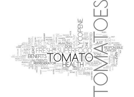 YOU SAY TOMATO I SAY SUPERFOOD TEXT WORD CLOUD CONCEPT Ilustração