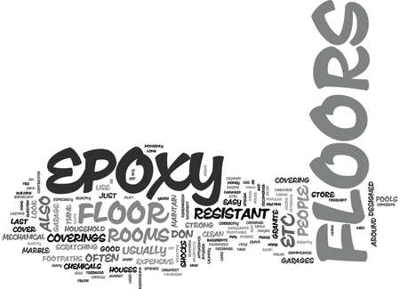 ドン T を選ぶ理由エポキシ床ホーム テキスト単語の雲概念