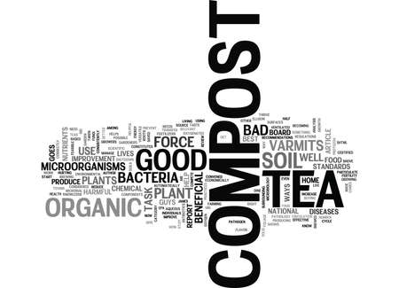 shove: WHAT IS COMPOST TEA TEXT WORD CLOUD CONCEPT Illustration