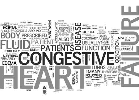 WHAT IS CONGESTIVE HEART FAILURE TEXT WORD CLOUD CONCEPT