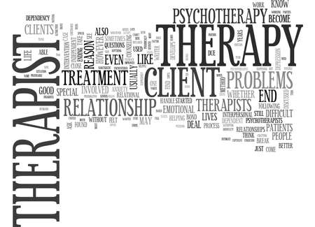 WHEN THERAPY BECOMES BOTHERSOME TEXT WORD CLOUD CONCEPT
