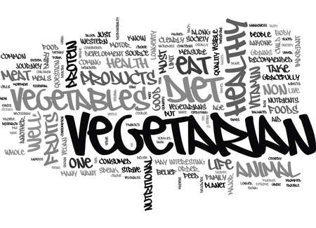 WHY EAT VEGETARIAN TEXT WORD CLOUD CONCEPT Illustration