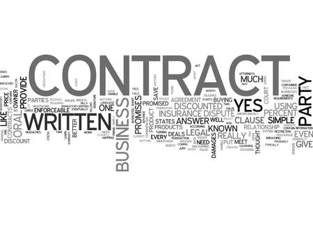 WHY EVEN A SIMPLE CONTRACT CAN SAVE YOUR BACON TEXT WORD CLOUD CONCEPT
