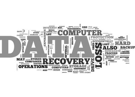 WHAT IS DATA RECOVERY TEXT WORD CLOUD CONCEPT