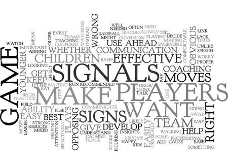 WHEN TO GIVE SIGNALS TEXT WORD CLOUD CONCEPT