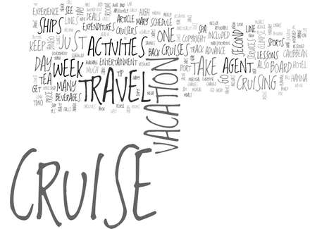 WHY EVERYONE CAN ENJOY THE CRUISE TRAVEL EXPERIENCE TEXT WORD CLOUD CONCEPT