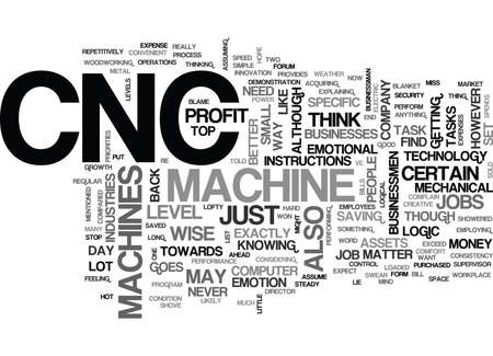 WHEN TO SHOVE PEOPLE OUT TO MAKE WAY FOR CNC TEXT WORD CLOUD CONCEPT Illustration