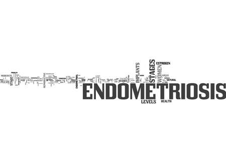 WHAT IS ENDOMETRIOSIS AND WHAT ARE ENDOMETRIOSIS STAGES TEXT WORD CLOUD CONCEPT