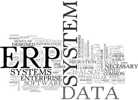 WHAT IS ERP TEXT WORD CLOUD CONCEPT 向量圖像