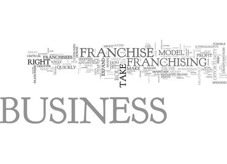 WHY FRANCHISE YOUR BUSINESS TEXT WORD CLOUD CONCEPT Illustration