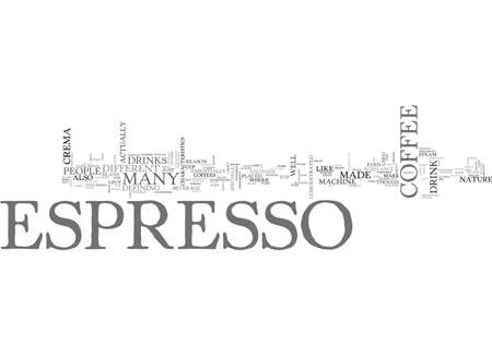 WHAT IS ESPRESSO TEXT WORD CLOUD CONCEPT Ilustrace