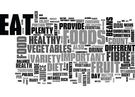 WHY FRUITS AND VEGETABLES ARE IMPORTANT TEXT WORD CLOUD CONCEPT