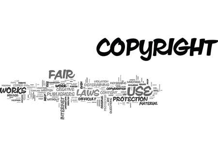 WHAT IS FAIR USE TEXT WORD CLOUD CONCEPT