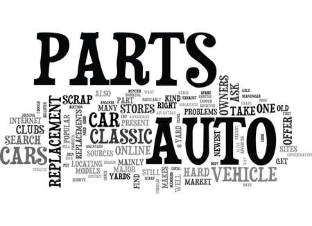 WHEN YOUR CAR S PARTS ARE HARD TO FIND TEXT WORD CLOUD CONCEPT