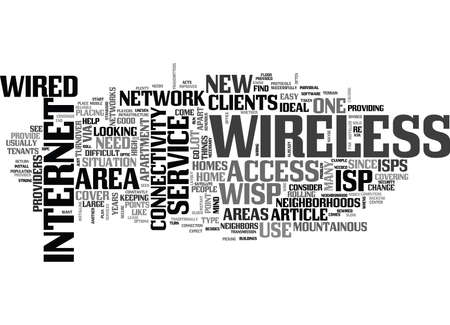WHY GO WIRELESS WITH YOUR ISP TEXT WORD CLOUD CONCEPT Çizim