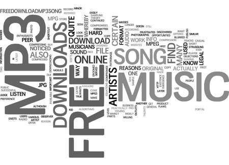 mpg: WHAT IS FREE MP MUSIC DOWNLOAD TEXT WORD CLOUD CONCEPT