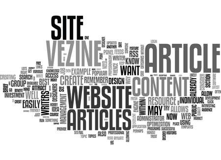really simple syndication: WHY HAVE AN ARTICLE WEBSITE TEXT WORD CLOUD CONCEPT Illustration