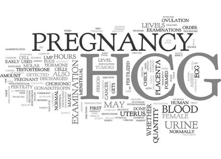 WHAT IS HCG TEXT WORD CLOUD CONCEPT
