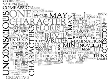 WHERE ARE A NOVELIST S CHARACTERS BORN TEXT WORD CLOUD CONCEPT