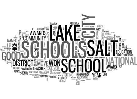 lake district: WHERE ARE THE GOOD SCHOOLS TEXT WORD CLOUD CONCEPT