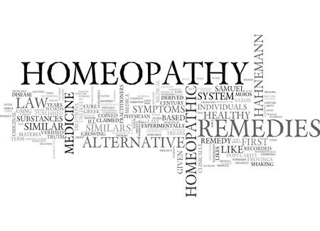 WHAT IS HOMEOPATHY TEXT WORD CLOUD CONCEPT