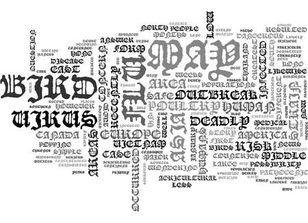 WHERE ARE THE GREATEST RISK AREA FOR BIRD FLU TEXT WORD CLOUD CONCEPT