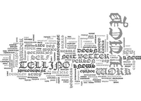WHY ADVICE DOESN T WORK TEXT WORD CLOUD CONCEPT Illustration