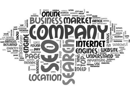returned: WHY AN SEO COMPANY TEXT WORD CLOUD CONCEPT