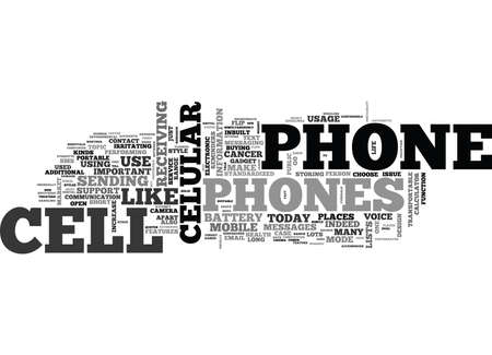 WHY AND HOW TO BUY A CELL PHONE TEXT WORD CLOUD CONCEPT Banco de Imagens - 79581203