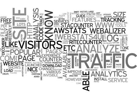 WHY AND HOW TO TRACK TRAFFIC OF YOUR WEBSITE TEXT WORD CLOUD CONCEPT
