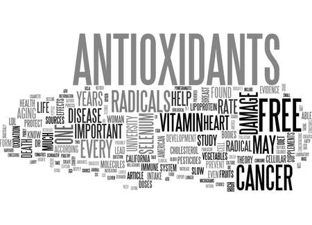 considerable: WHY ARE ANTIOXIDANTS IMPORTANT TO ME TEXT WORD CLOUD CONCEPT