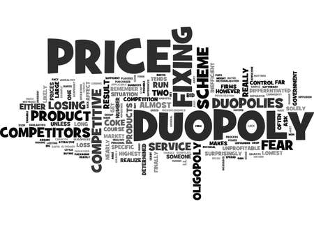 WHY ARE DUOPOLIES SO COMPETITIVE TEXT WORD CLOUD CONCEPT